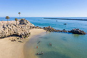 Corona del Mar State Beach and Channel Entrance