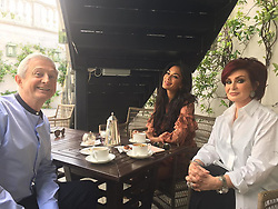 """Sharon Osbourne releases a photo on Instagram with the following caption: """"Tea time with Lou Lou and beautiful Nicki \u2764"""". Photo Credit: Instagram *** No USA Distribution *** For Editorial Use Only *** Not to be Published in Books or Photo Books ***  Please note: Fees charged by the agency are for the agency's services only, and do not, nor are they intended to, convey to the user any ownership of Copyright or License in the material. The agency does not claim any ownership including but not limited to Copyright or License in the attached material. By publishing this material you expressly agree to indemnify and to hold the agency and its directors, shareholders and employees harmless from any loss, claims, damages, demands, expenses (including legal fees), or any causes of action or allegation against the agency arising out of or connected in any way with publication of the material."""