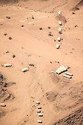 Aerial view, Camp, The Kaokoveld Desert, Kaokoland, Northern Namibia, Southern Africa