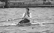 Kingston on Thames, United Kingdom.  Nick BURFITT, M1X.   The final Round of the Leyland Daf Sprint series, at Kingston RC on the River Thames, Surrey, England, <br /> <br /> Saturday 04.05.1987<br /> <br /> [Mandatory Credit; Peter Spurrier/Intersport-images] 1987 Leyland Daf Sprints, Kingston. UK
