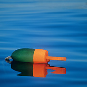 Lobster buoy in Penobscot Bay. Rockland, Maine