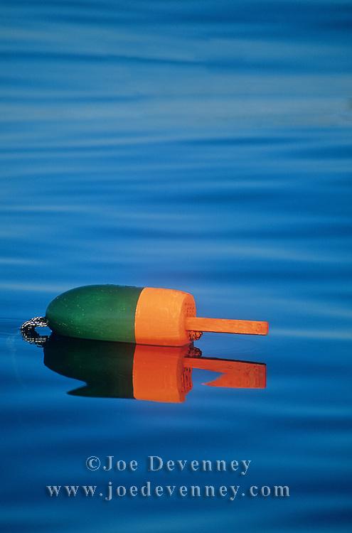 Lobster buoy in Penobscot Bay. Rockland, Maine
