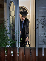 © Licensed to London News Pictures. 26/10/2019. London, UK. Labour Party Leader Jeremy Corbyn leaves his north London home. MPs may hold a vote on a date for a winter election on Monday in Parliament.  Photo credit: Peter Macdiarmid/LNP