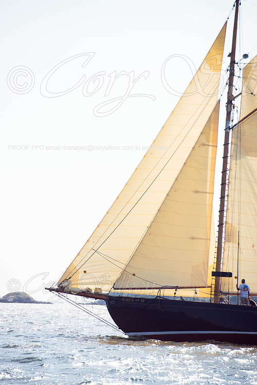 When and If sailing in the Museum of Yachting Classic Yacht Regatta, day one.