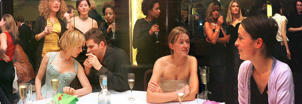 party at the Titanic restaurant. London. 2001. Archive panoramas 2001