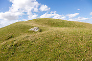 Adam's Grave prehistoric neolithic long barrow, Alton Barnes, Wiltshire, England, UK - horned shaped entrance with stone