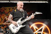 performing at Mayhem Fest 2012 at Verizon Wireless Amphitheater in St. Louis, Missouri on July 20, 2012.