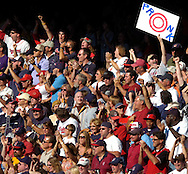 MORNING JOURNAL/DAVID RICHARD<br />Travis Hafner gave the fans something to cheer about with a double in the eighth inning, but the Indians failed to score.