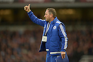 Steve Holland, the Chelsea first team assistant coach giving the thumbs up from the touchline. Barclays Premier League, West Ham Utd v Chelsea at The Boleyn Ground, Upton Park in London on Saturday 24th October 2015.<br /> pic by John Patrick Fletcher, Andrew Orchard sports photography.
