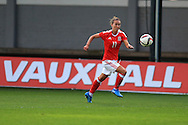 Melissa Fletcher of Wales in action. Friendly International Womens football, Wales Women v Republic of Ireland Women at Rodney Parade in Newport, South Wales on Friday 19th August 2016.<br /> pic by Andrew Orchard, Andrew Orchard sports photography.