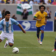 Sergio Aguero, Argentina, in action during the Brazil V Argentina International Football Friendly match at MetLife Stadium, East Rutherford, New Jersey, USA. 9th June 2012. Photo Tim Clayton