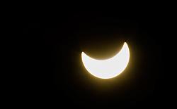 20.03.2015, Kranjska Gora, SLO, Partielle Sonnenfinsternis, im Bild die Partielle Sonnenfisternis // A partial solar eclipse of the sun is visible in Kranjska Gora, Slovenia on 2015/03/20. EXPA Pictures © 2015, PhotoCredit: EXPA/ JFK