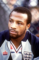 File Photo:  Former England forward Cyrille Regis has died aged 59. <br /> <br /> Cyrille Regis, England ... Soccer - Home International Championship - Wales v England ... 27-04-1982 ... NULL ... NULL ... Photo credit should read: Peter Robinson/EMPICS Sport. Unique Reference No. 353954 ... NULL