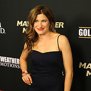 Kathryn Hahn is seen on the red carpet prior to the Mayweather versus Maidana boxing match at the MGM Grand hotel on Saturday, May 3, 2014 in Las Vegas, Nevada.  (AP Photo/Alex Menendez)