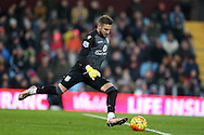 Mark Bunn, the Aston Villa goalkeeper in action. Barclays Premier league match, Aston Villa v Leicester city at Villa Park in Birmingham, The Midlands on Saturday 16th January 2016.<br /> pic by Andrew Orchard, Andrew Orchard sports photography.