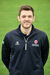 Club analyst Andrew Griffiths during the media day at the County Ground, Taunton. PRESS ASSOCIATION Photo. Picture date: Wednesday April 11, 2018. See PA story CRICKET Somerset. Photo credit should read: Ben Birchall/PA Wire. RESTRICTIONS: Editorial use only. No commercial use without prior written consent of the ECB. Still image use only. No moving images to emulate broadcast. No removing or obscuring of sponsor logos.