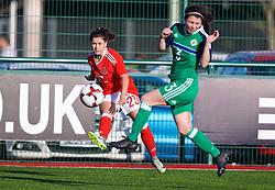 YSTRAD MYNACH, WALES - Wednesday, April 5, 2017: Wales' Ffion Morgan in action during the Women's International Friendly match against Northern Ireland at Ystrad Mynach. (Pic by Laura Malkin/Propaganda)