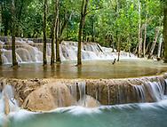 Tad Sae Waterfall near Luang Prabang.