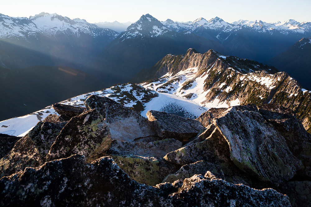 Hidden Lake at sunrise, North Cascades National Park, Washington.