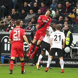 25.11.2017, Commerzbank Arena, Frankfurt, GER, 1. FBL, Eintracht Frankfurt vs Bayer 04 Leverkusen, 13. Runde, im Bild Jetro Willems (Frankfurt) im Kopfballduell mit Kai Havertz (Leverkusen) // during the German Bundesliga 13th round match between Eintracht Frankfurt and Bayer 04 Leverkusen at the Commerzbank Arena in Frankfurt, Germany on 2017/11/25. EXPA Pictures © 2017, PhotoCredit: EXPA/ Eibner-Pressefoto/ Weiss<br /> <br /> *****ATTENTION - OUT of GER*****