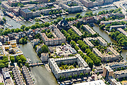 Nederland, Noord-Holland, Amsterdam, 29-06-2018; Oostelijke eilanden, Wittenburg met Oosterkerk. Wittenburgerstraat.<br /> Eastern part of the city center, former harbor area.<br /> luchtfoto (toeslag op standard tarieven);<br /> aerial photo (additional fee required);<br /> copyright foto/photo Siebe Swart