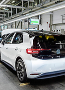 Germany, Zwickau VW production site. the electric ID.3 lane
