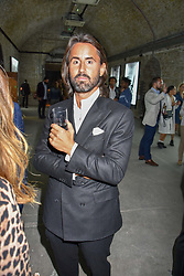 Jay Rutland at 'Shadowman' Richard Hambleton Private View and After Party hosted by Andy Valmorbida and Maddox Gallery, held at 26 Leake Street Tunnels, London SE1 England. 12 September 2018.