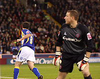 Photo: Paul Greenwood.<br />Sheffield United v Cardiff City. Coca Cola Championship. 02/10/2007.<br />Cardiff's Robbnie Fowler runs awayin celebration after scoring from the spot