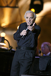 Singer Charles Aznavour live in concert in Yerevan, Armenia, September 30, 2006. Photo by Thierry Orban/ABACAPRESS.COM