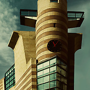 London, UK, 2008: View of No.1 Poultry building, corner tower, by James Stirling and Michael Wilford Architects. Photography by Alejandro Sala | Visit SHOP Images to purchase a digital file, explore other Alejandro Sala images. |  AS • Atelier• Architecture + Photography