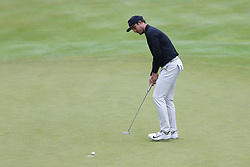 June 23, 2018 - Cromwell, Connecticut, United States - Jamie Lovemark putts the 18th green during the third round of the Travelers Championship at TPC River Highlands. (Credit Image: © Debby Wong via ZUMA Wire)