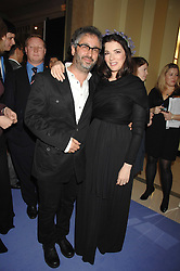 DAVID BADDIEL and NIGELLA LAWSON at the 10th Anniversary Party of the Lavender Trust, Breast Cancer charity held at Claridge's, Brook Street, London on 1st May 2008.<br /><br />NON EXCLUSIVE - WORLD RIGHTS