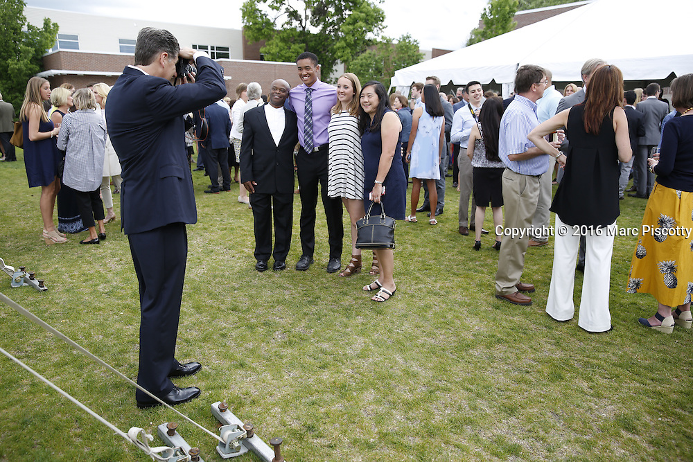SHOT 6/1/16 6:33:59 PM - Colorado Academy Senior Class portrait in front of the Wellborn House and Class of 2016 Commencement Dinner at the Denver, Co. private school. (Photo by Marc Piscotty / © 2016)