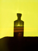 silhouette of a bottle with whisky
