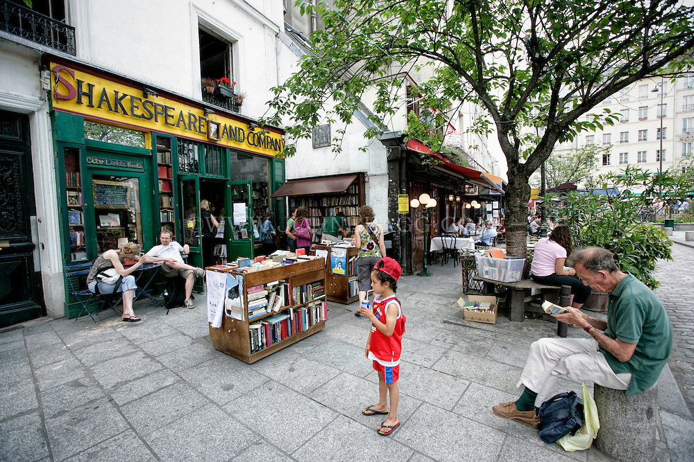 A photo of the Shakespeare and Company Bookstore, Paris, France (Horizontal).