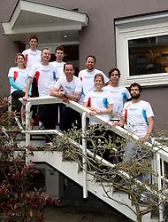 10-04-2014 NED: NY City Marathon training Vriendenloterij, Amsterdam<br /> In het Amsterdamse Vondelpark werden de eerste meters gelegd door de lopers van de vriendenloterij