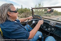 Craig Gacom driving his all original 1931 Chevy Roadster on Thursday of Arizona Bike Week 2014. USA. April 4, 2014.  Photography ©2014 Michael Lichter.