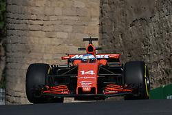 June 23, 2017 - Baku, Azerbaijan - Motorsports: FIA Formula One World Championship 2017, Grand Prix of Europe, .#14 Fernando Alonso (ESP, McLaren Honda) (Credit Image: © Hoch Zwei via ZUMA Wire)