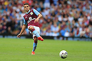 Ashley Westwood of Aston Villa in action.EFL Skybet championship match, Aston Villa v Rotherham Utd at Villa Park in Birmingham, The Midlands on Saturday 13th August 2016.<br /> pic by Andrew Orchard, Andrew Orchard sports photography.