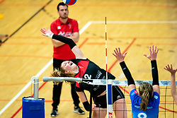 Marijke Lammers of VCN in action during the first league match between Djopzz Regio Zwolle Volleybal - Laudame Financials VCN on February 27, 2021 in Zwolle.