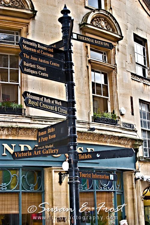 Street sign in Bath, England