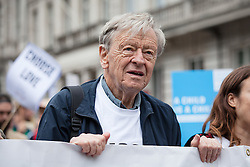 September 17, 2016 - London, London - London, UK. Lord ALFRED DUBS, who was brought to Britain on the Kindertransport during the Second World War, joins thousands as they march through central London to call on the government to welcome refugees to the UK. (Credit Image: © Rob Pinney/London News Pictures via ZUMA Wire)