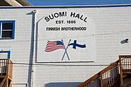 Fasaden av Suomi Hall i Astoria, Oregon.<br /> <br /> Foto: Christina Sjögren
