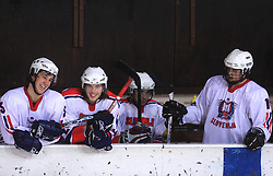 Slo Team at friendly ice-hockey game between Slovenian National Team U20 and HKMK Bled, before World Championship Division 1, Group A in Herisau, Switzerland, on December 11, 2008, in Bled, Slovenia. (Photo by Vid Ponikvar / Sportida)