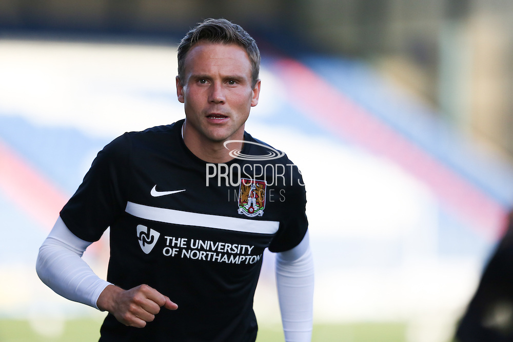 Matthew Taylor of Northampton Town warms up before the EFL Sky Bet League 1 match between Oldham Athletic and Northampton Town at Boundary Park, Oldham, England on 16 August 2016. Photo by Simon Brady.