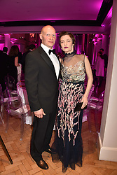 Camilla Rutherford and Dominic Burns at the Floral Ball in aid of Sheba Medical Center hosted by Laura Pradelska and Zoe Hardman and held at One Marylebone, 1 Marylebone Road, London England. 14 March 2017.