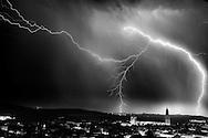 Tormenta eléctrica sobre Vilafranca