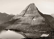 Hidden Lake, nestled below a perfect glacial horn, Glacier National Park, Montana, USA