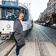22 februari 2018 Antwerpen Belgie.portret van Jan Jaap van der Wal,Nederlandse comedian wonend te Antwerpen. naar aanleiding van zijn theaterstuk. Schoon  dat draait in de Vlaamse theaters.