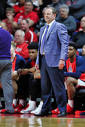 NORMAL, IL - December 08:  Kermit Davis during a college basketball game between the ISU Redbirds and the University of Mississippi (Ole Miss) Rebels on December 08 2018 at Redbird Arena in Normal, IL. (Photo by Alan Look)